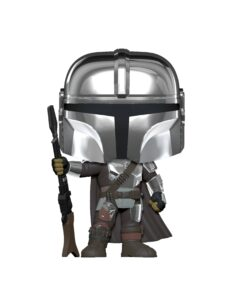 Funko Pop! Star Wars: The Mandalorian - The Mandalorian Chrome (Amazon Exclusive) - Pop Vynil Figure #345