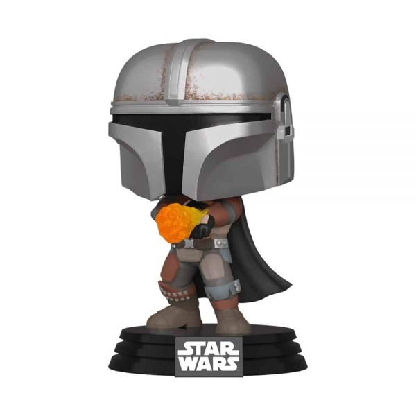 Funko Pop! Star Wars: The Mandalorian - The Mandalorian With Flame Throwing (Metallic) Funko Pop Vinyl Figure - Target Exclusive