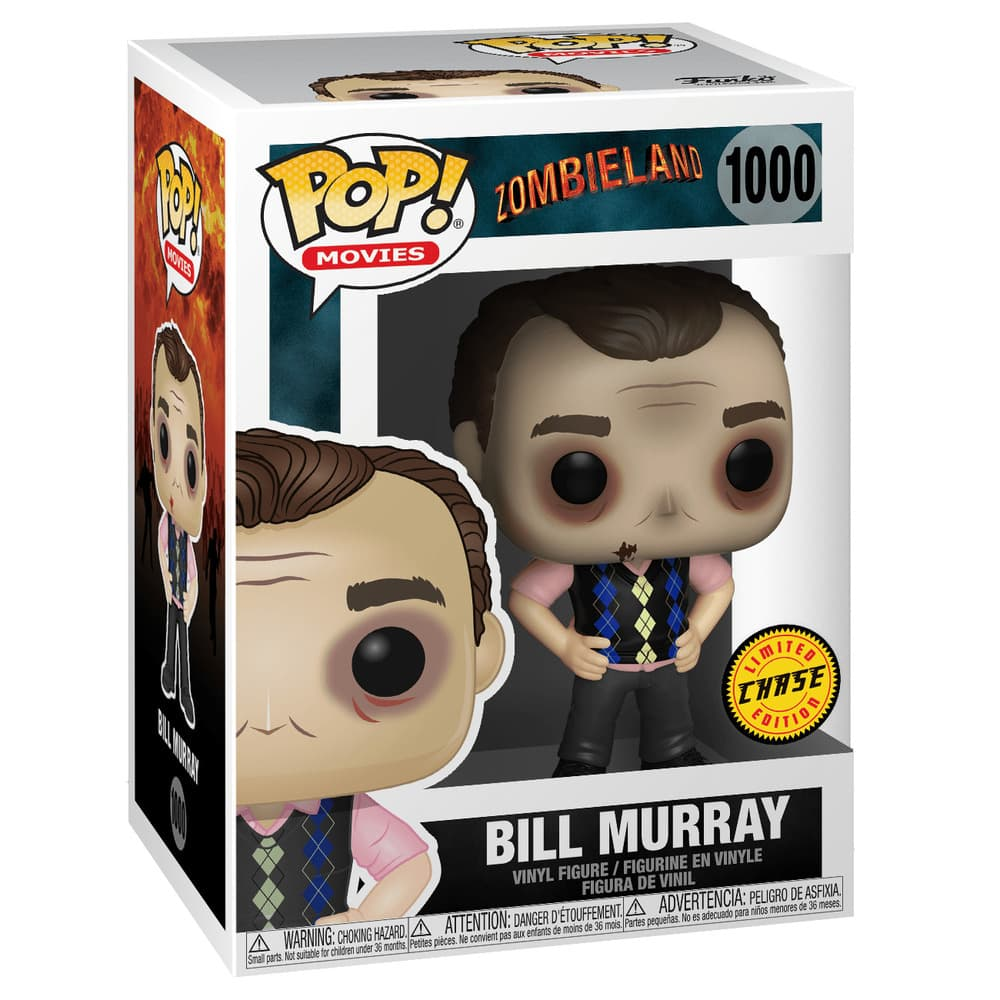 1000 Zombieland Bill Murray (Chase) Funko Pop Funkoween Figure Box