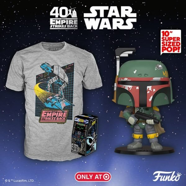 Funko Pop! Star Wars: Episode V The Empire Strikes Back the 40th Anniversary: Boba Fett (10 inches) Funko Pop! Vinyl Figure - Target Exclusive