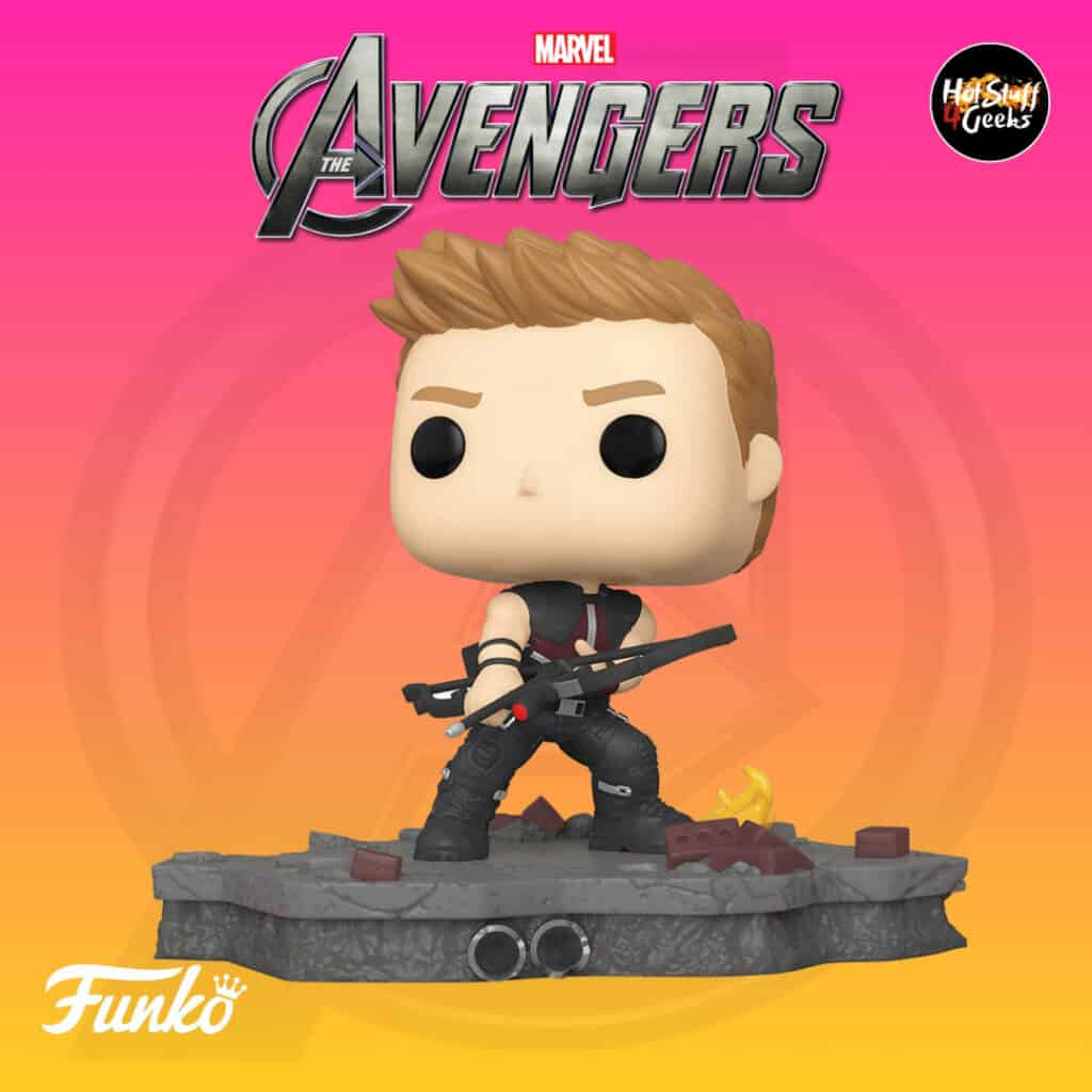 Funko Pop! Deluxe, Marvel Avengers Assemble Series - Hawkeue, Amazon Exclusive, Figure 3 of 6