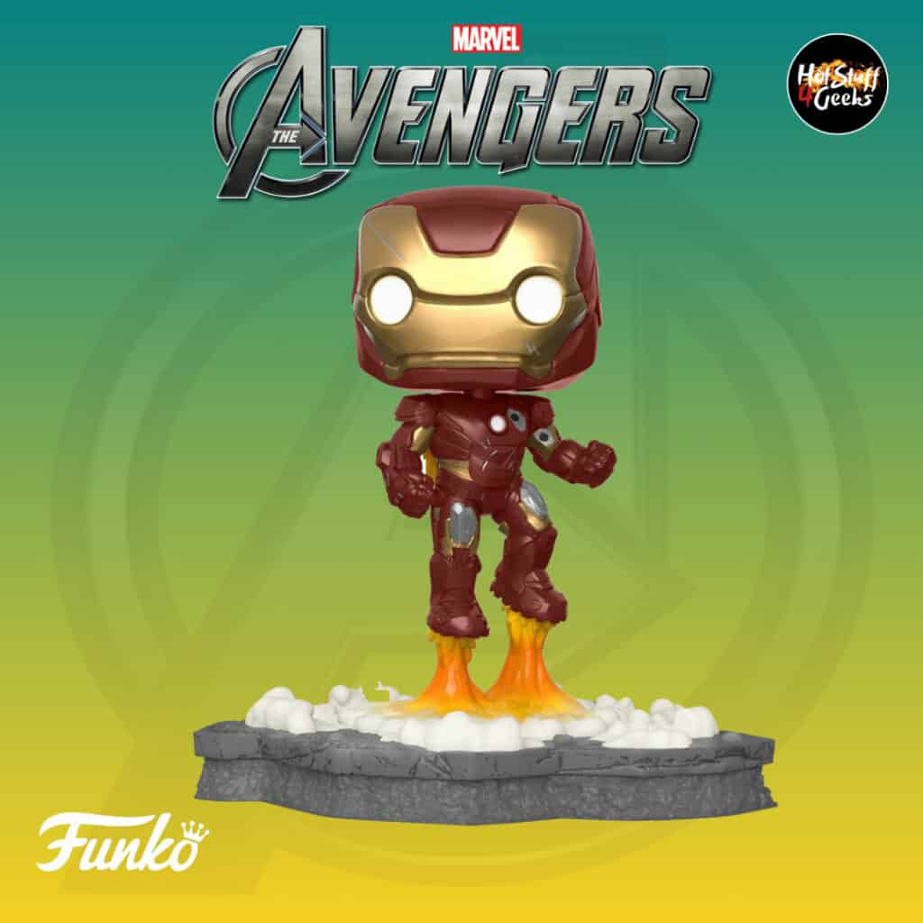 Funko Pop! Deluxe, Marvel Avengers Assemble Series - Iron Man, Amazon Exclusive, Figure 1 of 6