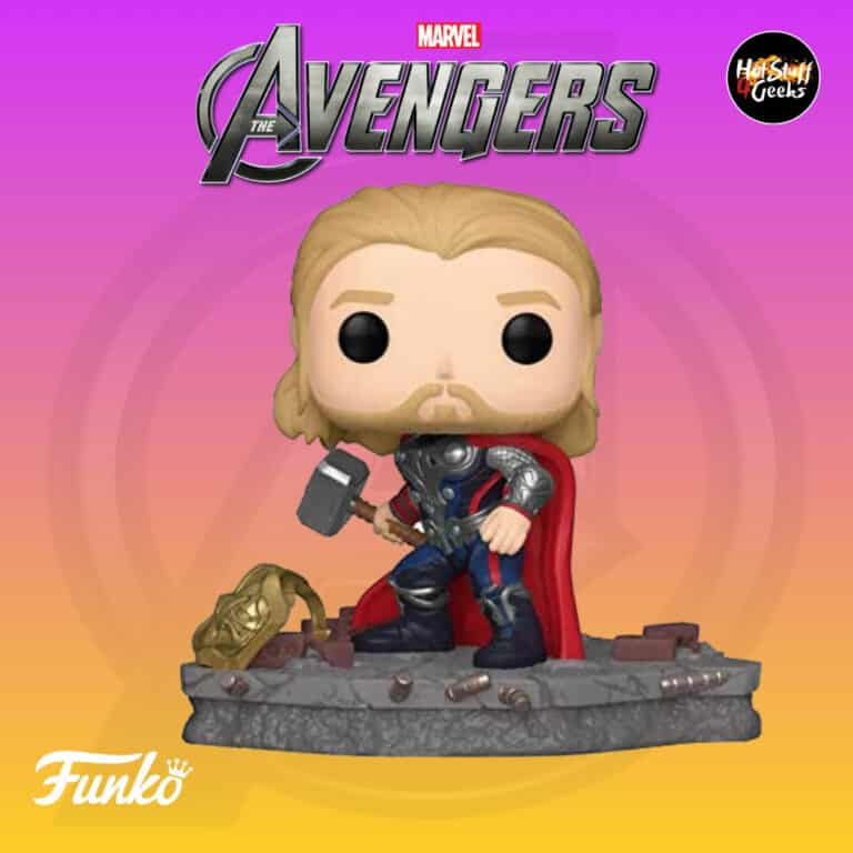 Funko Pop! Deluxe, Marvel Avengers Assemble Series - Thor, Amazon Exclusive, Figure 4 of 6