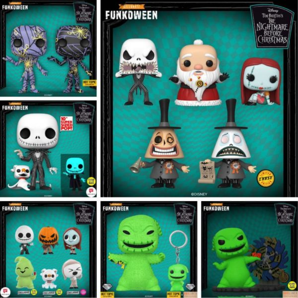 Funko Pop! Disney - Tim Burton's The Nightmare Before Chrstmas Complete Set