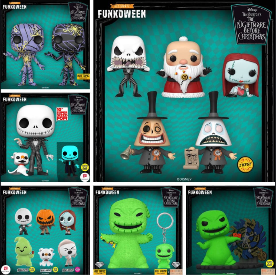 Christmas Funko Pop 2020 NEW Funko Pop! 2020 | Disney: The Nightmare Before Christmas | Hot