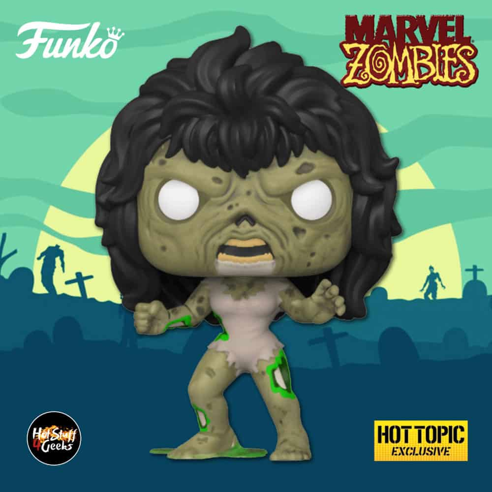 Funko Pop! Marvel Zombies: Zombie She-Hulk Funko Pop! Vinyl Figure - Hot Topic Exclusive