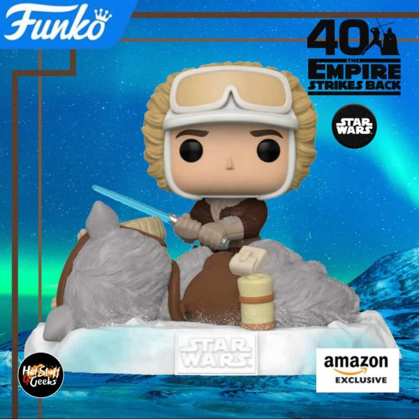 Funko Pop! Star Wars Episode V: The Empire Strikes Back 40th Anniversary – Battle at Echo Base: Han Solo With TaunTaun Funko Pop! Vinyl Figure – Amazon Exclusive Diorama – Figure 2 of 6