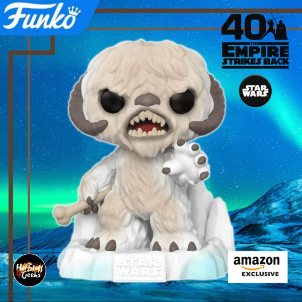 Funko Pop! Star Wars Episode V: The Empire Strikes Back 40th Anniversary – Battle at Echo Base: Wampa (6-inch) Funko Pop! Vinyl Figure – Amazon Exclusive Diorama – Figure 1 of 6