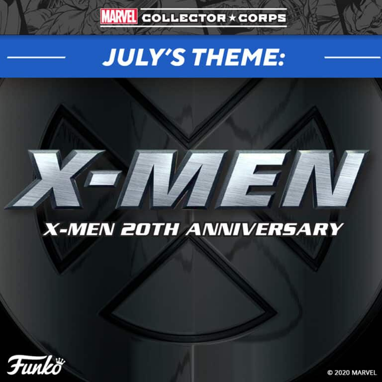 Marvel Collector Corps X-Men 20th Anniversary subscription box July Theme