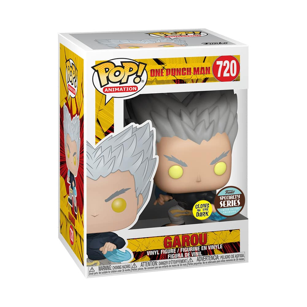 Pop! Animation One Punch Man - Garou Glow In The Dark Specialty Series Funko Pop Vinyl figures Box