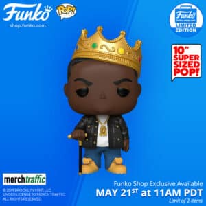 Pop! Rocks 10 Inches Notorious B.I.G with Crown