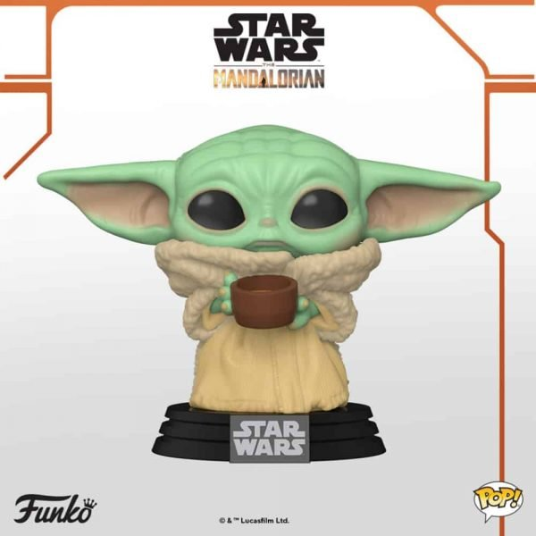 Funko Pop! Star Wars: The Mandalorian - The Child With Cup Funko Pop Vinyl Figure