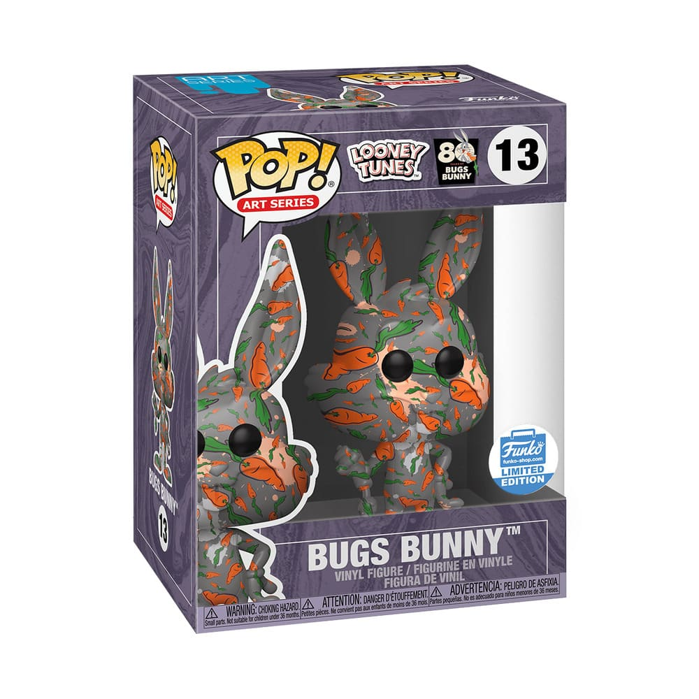 Bugs Bunny 80th Anniversary Bugs Bunny With Carrots Pop! Vinyl Figure Box