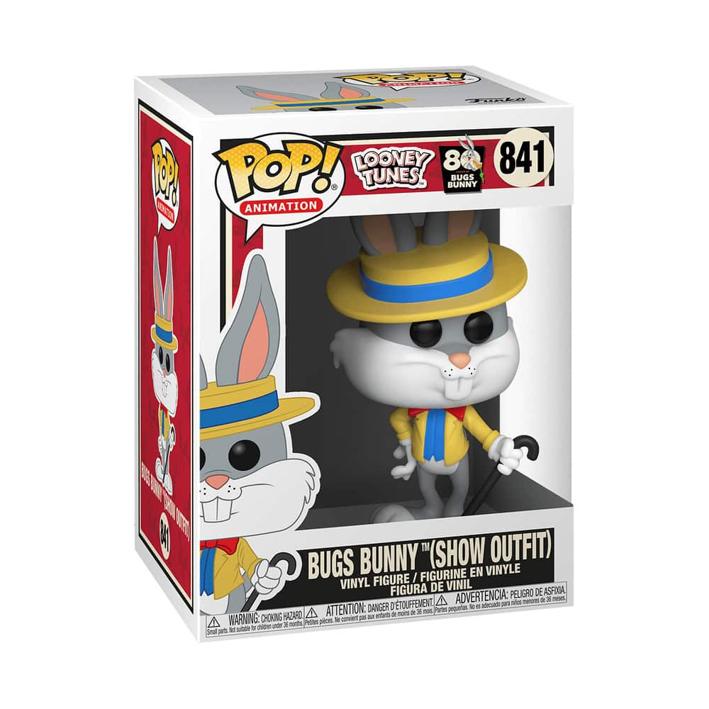 Bugs Bunny 80th Anniversary Bugs in Show Outfit Pop! Vinyl Figure Box