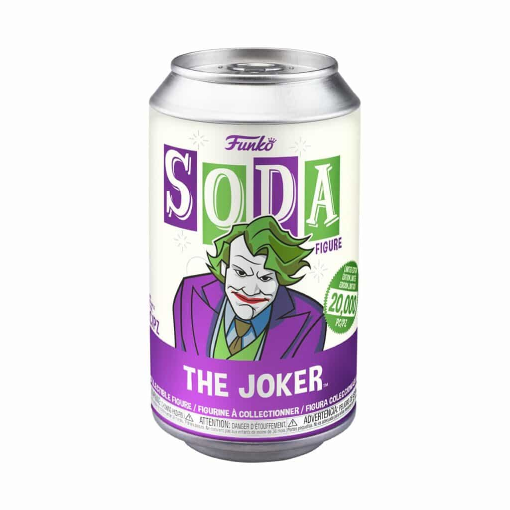 DC Comic Heath Ledger Joker Soda Vinyl Figure soda package