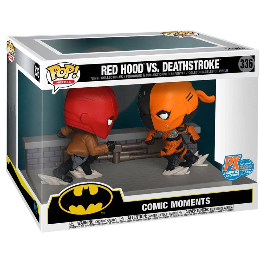 DC Comic Red Hood vs. Deathstroke Comic Moment Pop! Vinyl 2-Pack - San Diego Comic-Con 2020 Previews Exclusive Box