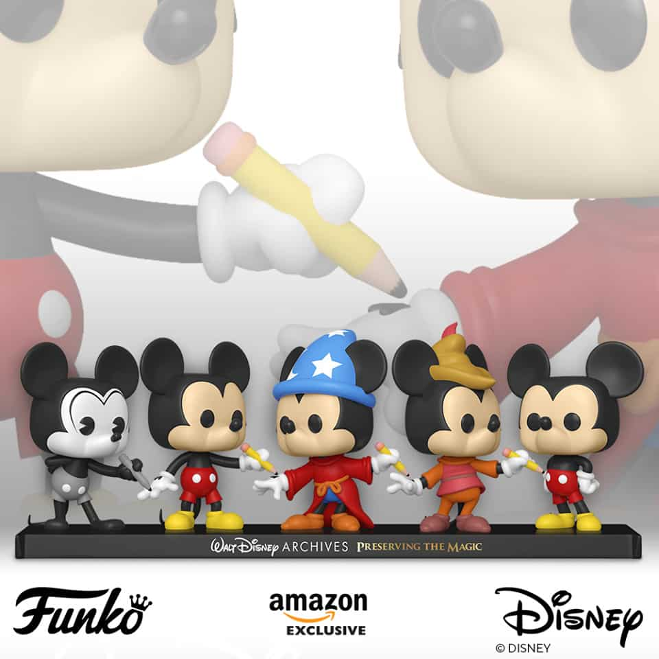 Funko POP! Disney Archives - Mickey Mouse 5 Pack - Amazon Exclusive