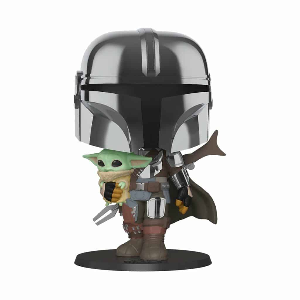 Funko POP! Star Wars The Mandalorian - 10 Inches Mandalorian With The Child