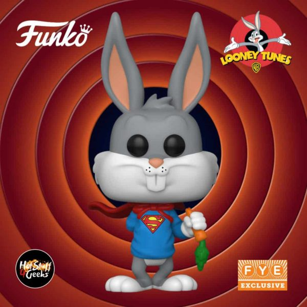 Funko Pop! Animation: DC Looney Tunes - Bugs Bunny 80th Anniversary: Bugs Bunny as Superman Funko Pop! Vinyl Figure - Fye Exclusive