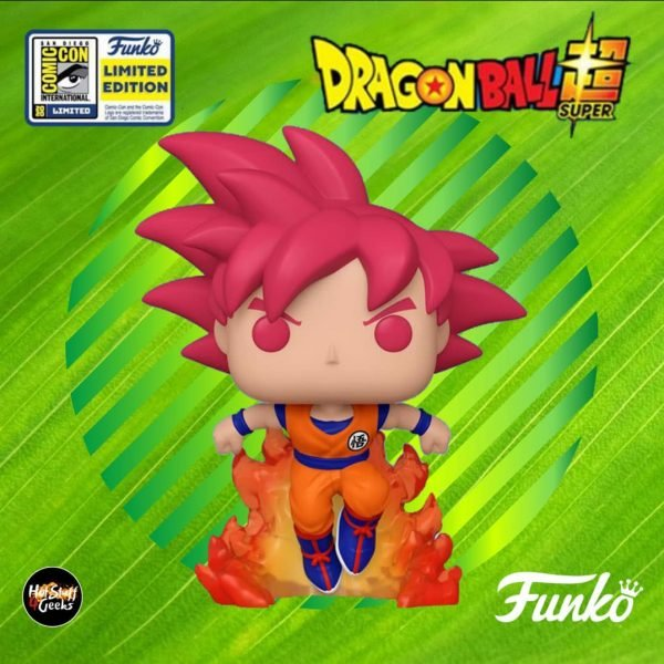 Funko Pop! Animation: Dragon Ball Super (DBS) - Super Saiyan God Goku (SSGG) In Flames Funko Pop Vinyl Figure - SDCC 2020 and Hot Topic Shared Exclusive