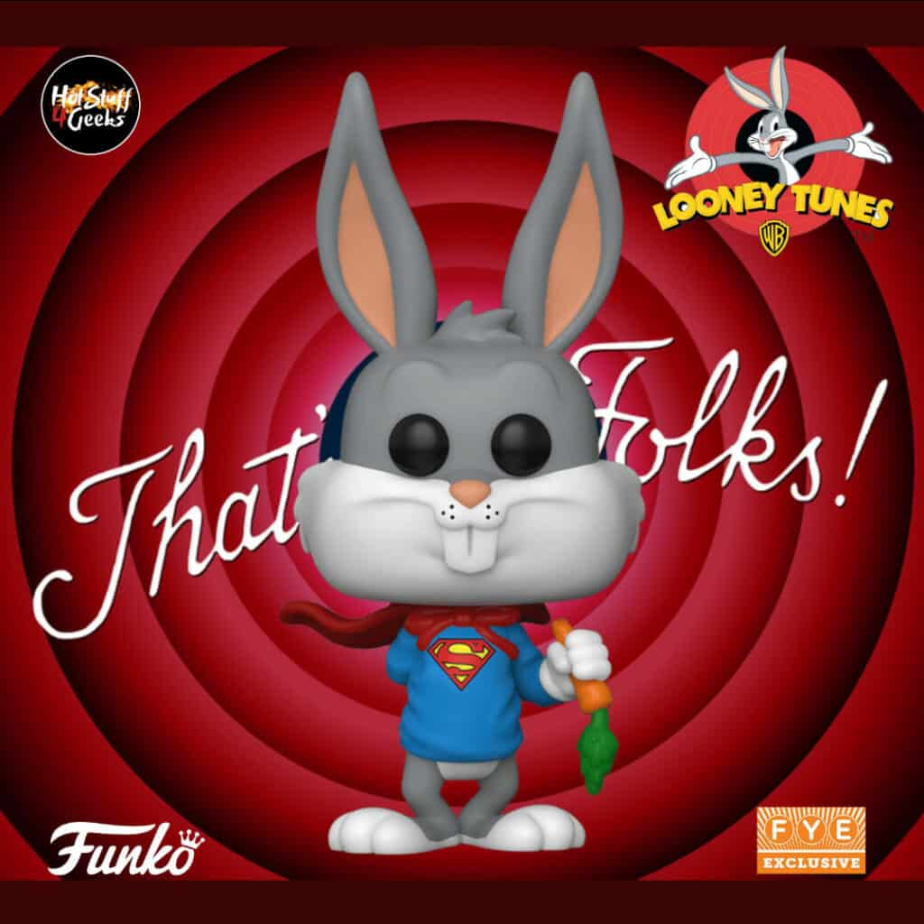 Funko Pop Bugs Bunny 80th Anniversary Bugs Bunny as Superman Pop! Vinyl Figure