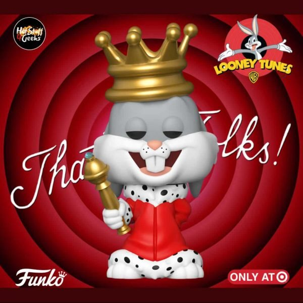 Funko Pop Bugs Bunny 80th Anniversary Bugs Bunny as King (Metallic) Pop! Vinyl Figure
