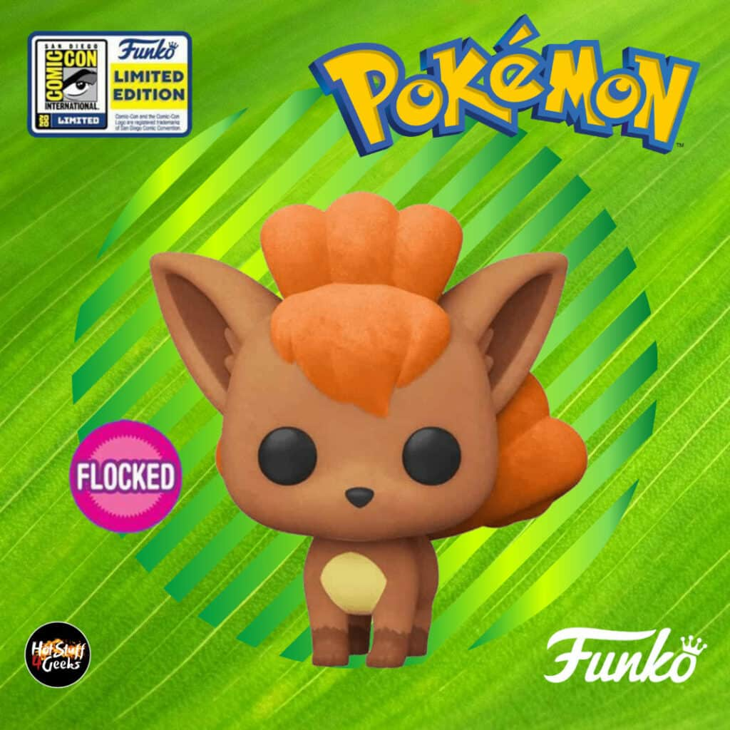 Pokemon Vinyl Vulpix SDCC 2020 Exclusive Flocked Pop