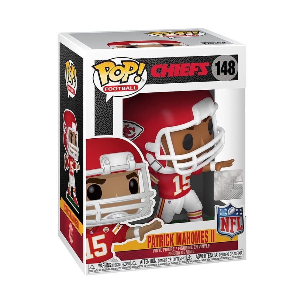Funko Pop NFL Kansas City Chiefs Patrick Mahomes Pop! Vinyl Figure Box