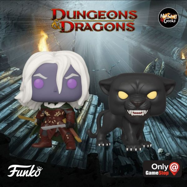 POP! Games Dungeons and Dragons Drizzt Do'Urden with Guenhwyvar 2 Pack GameStop Exclusive