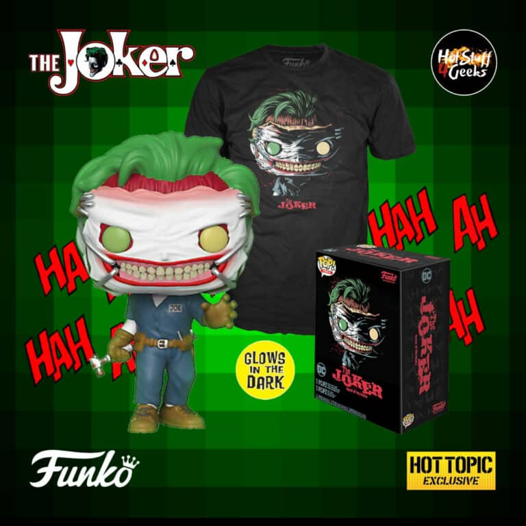 The Funko DC Comics POP! Tees: The Joker (Death of the Family) Glow-In-The-Dark Vinyl Figure & T-Shirt Box Set - Hot Topic Exclusive
