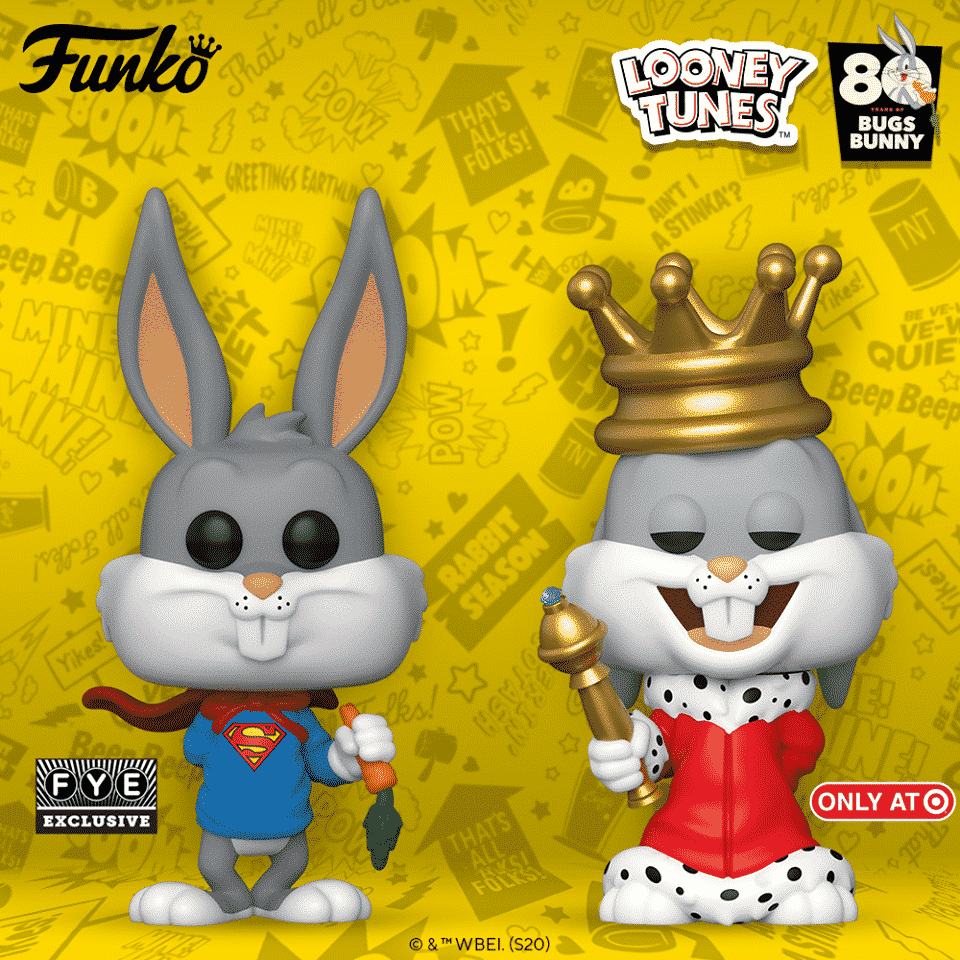 Pop! Animation Bugs Bunny 80th Anniversary Fye and Target Exclusives