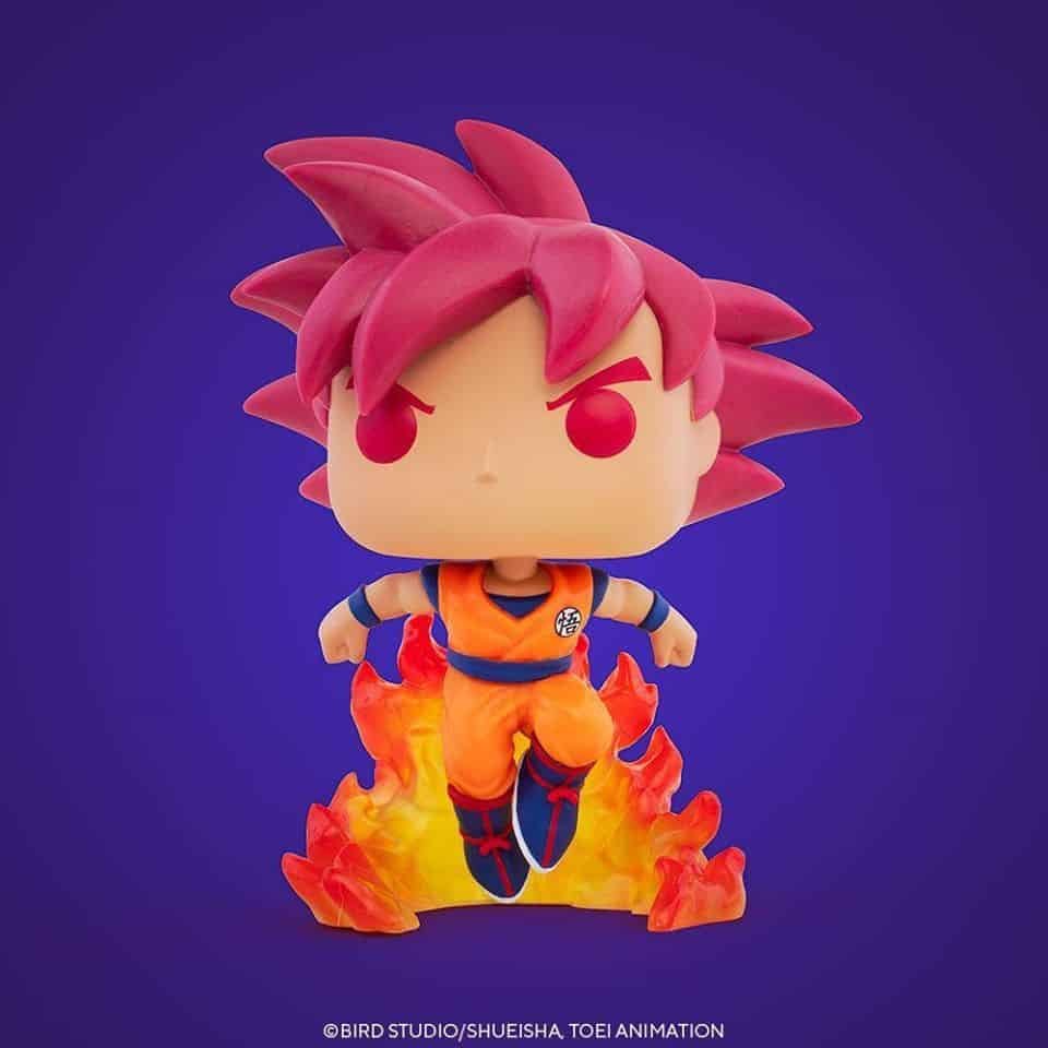 Pop! Animation: Dragon Ball Super (DBS) - Super Saiyan God Goku (SSGG) Funko Pop Vinyl Figure - SDCC 2020 and Hot Topic Shared Exclusive