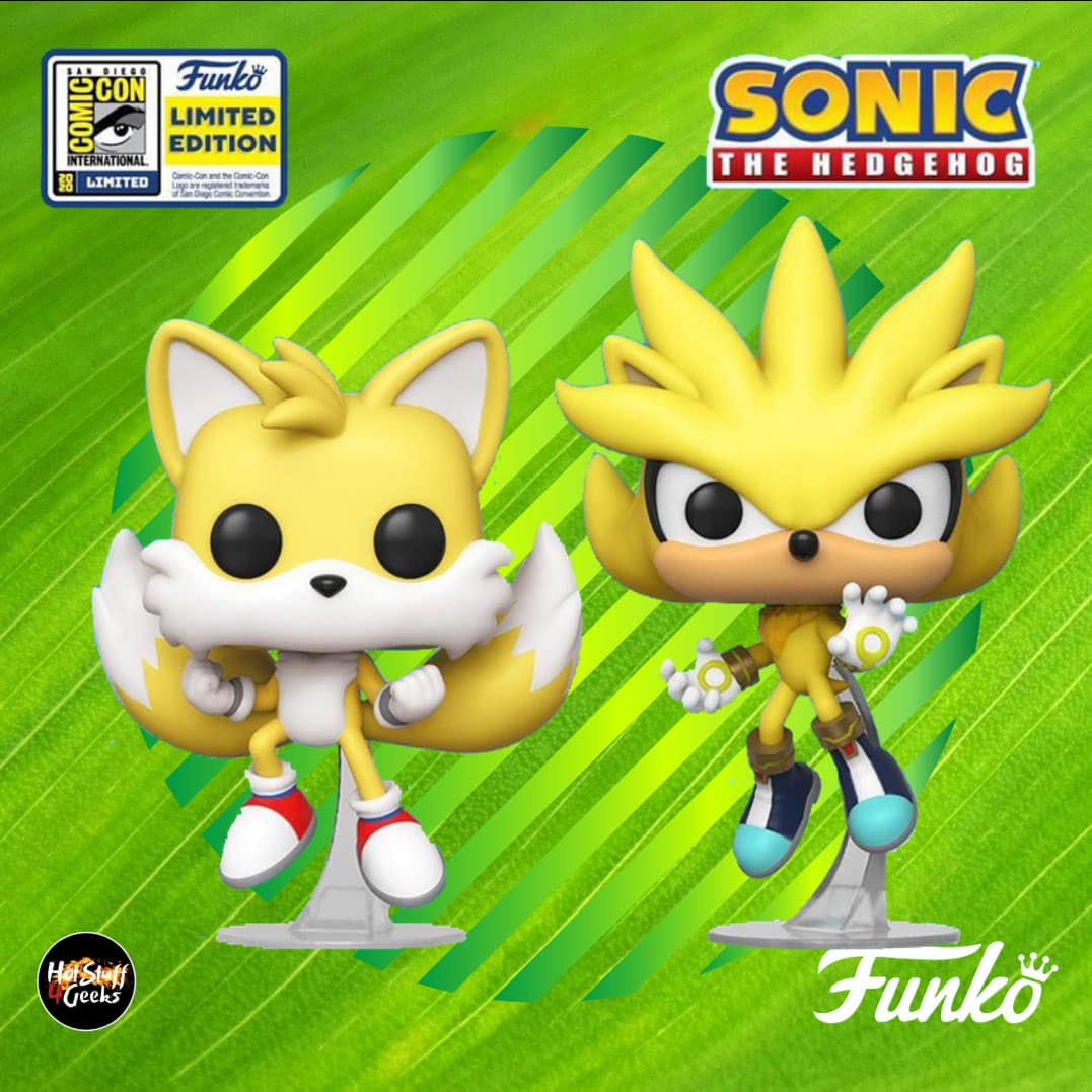 Funko Sdcc 2020 Sonic The Hedgehog 2 Pack Tails And Silver Hot Stuff 4 Geeks