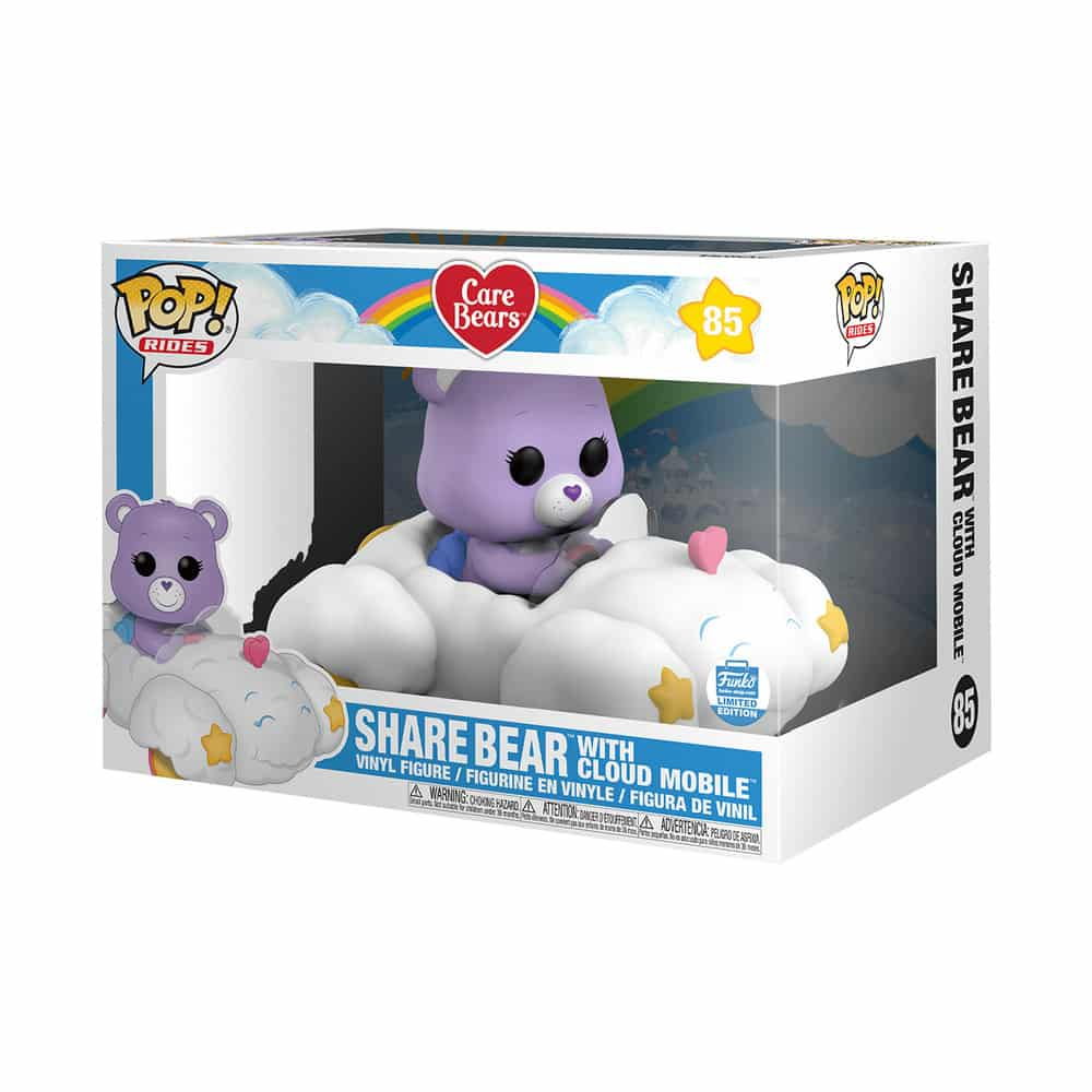 Pop! Rides Care Bears – Share Bear with Cloud Mobile Funko Shop Exclusive Box