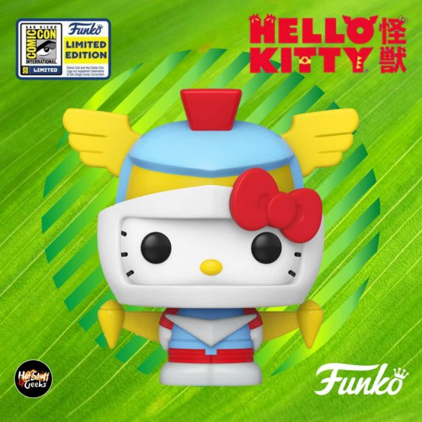 Funko Pop! Sanrio: Hello Kitty x Kaiju - Hello Kitty (Robot) Funko Pop Vinyl Figure - SDCC 2020 and GameStop Shared Exclusive