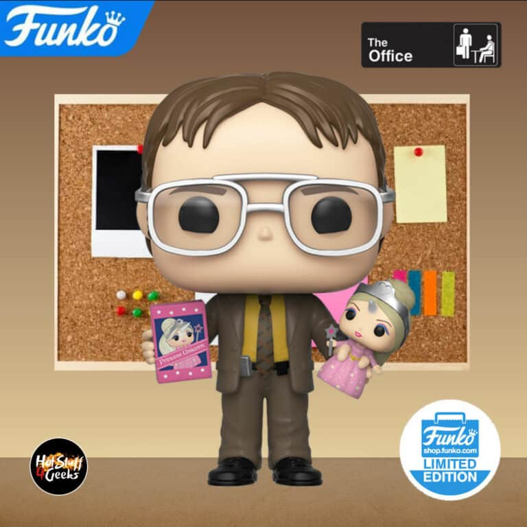 Pop! The Office Dwight holding Princess Unicorn Funko Pop Vinyl Figure