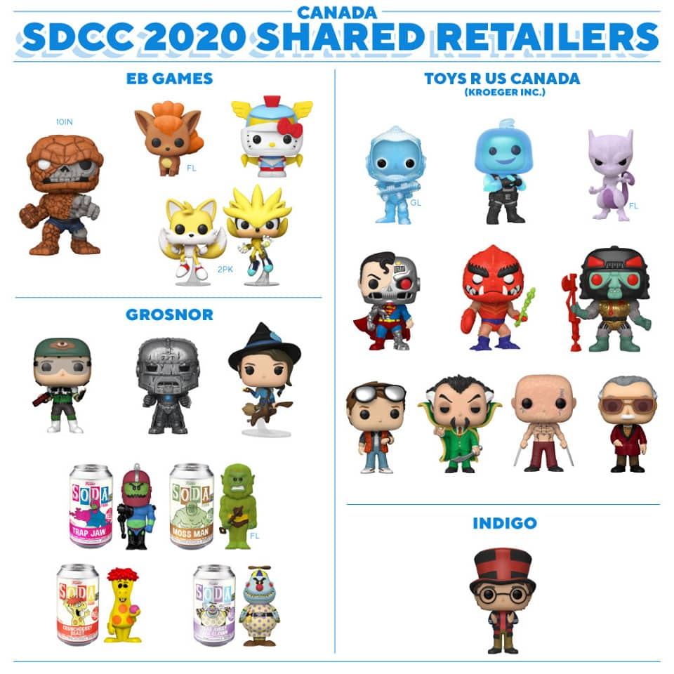 Canada - Funko SDCC 2020 Shared Retailers