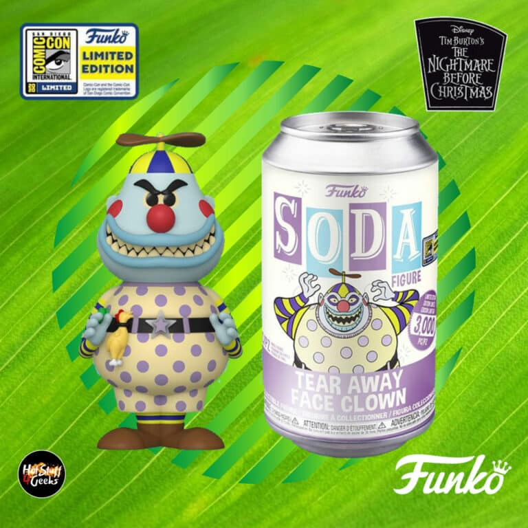 Funko Vinyl Soda: Tim Burton's The Nightmare Before Christmas - Clown with the Tear-Away Face Funko Soda figure - SDCC 2020 Exclusive