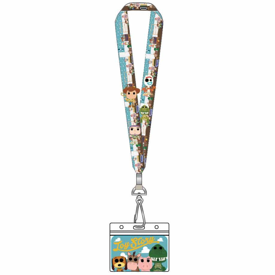 Loungefly Disney Pixar Toy Story: Pop! by Loungefly Lanyard with Enamel Pins Set