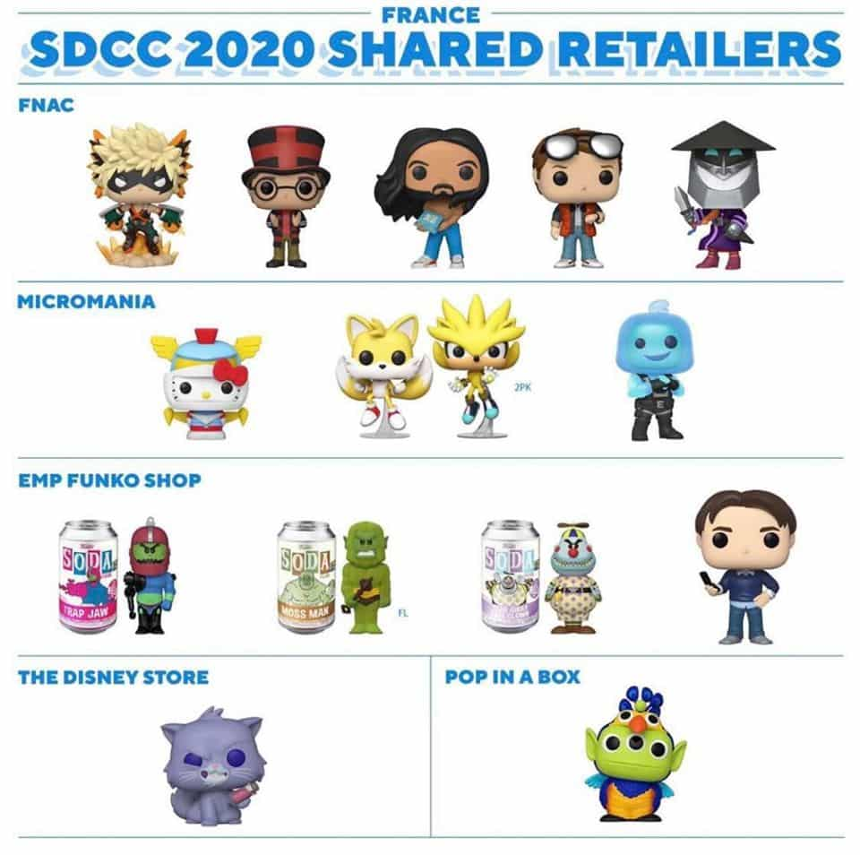 France - Funko SDCC 2020 Shared Retailers