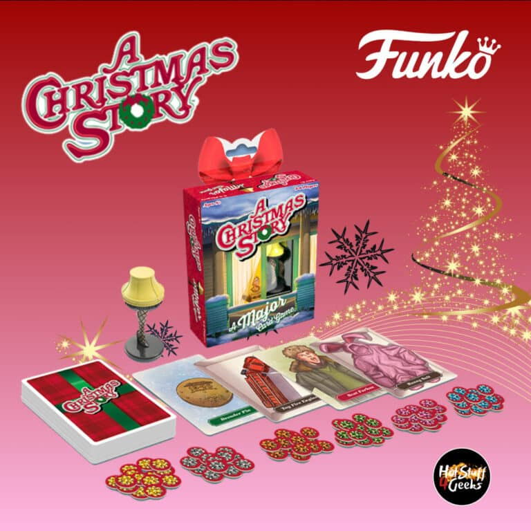 Funko Games; A Christmas Story Card Game – A Major Card Game – With Fishnet Leg Lamp Miniature – Christmas Holiday 2020