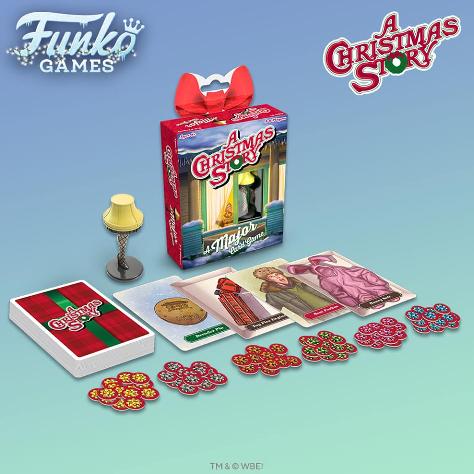 Funko Games; A Christmas Story Card Game - A Major Card Game - With Fishnet Leg Lamp Miniature - Christmas Holiday 2020