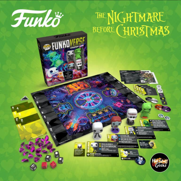 Funko Games:  Funkoverse: The Nightmare Before Christmas - with 4 Pop! Pocket Figures