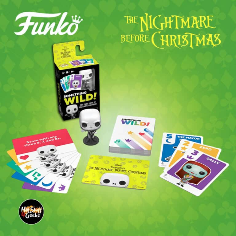 Funko Games: Nightmare Before Christmas - Something Wild Card Game with Jack Skellington Pop! Pocket Figure