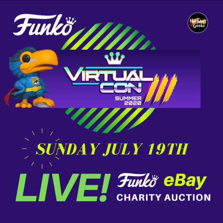 Funko POP! SDCC 2020 X Funko Virtual Con 3.0 ebay Auction