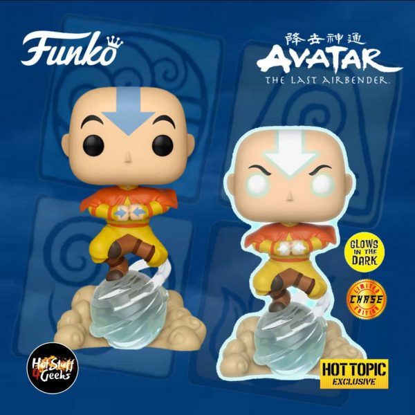 Funko Pop! Animation: Avatar - The Last Airbender - Aang on Airscooter With Glow In The Dark Chase Variant Funko Pop! Vinyl Figure - Hot Topic Exclusive