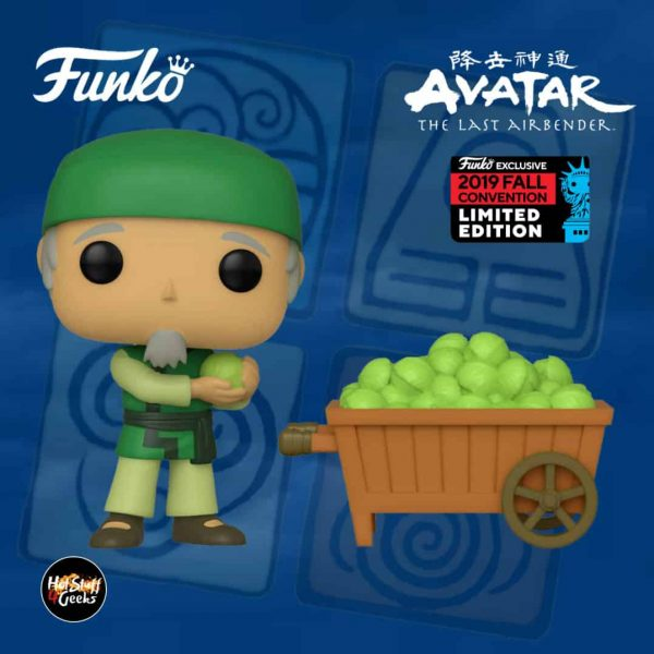 Funko Pop! Animation: Avatar - The Last Airbender - The Cabbage Man and Cart Funko Pop! Vinyl Figure - NYCC 2019 and GameStop Shared Exclusive