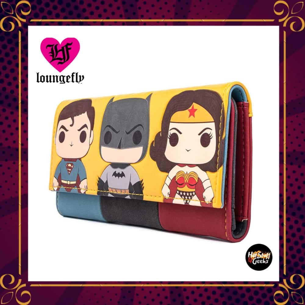 Funko Pop! By Loungefly DC Comics Super Trio Tri-Fold Wallet by Loungefly