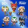 Funko Pop! Dc Holiday – Wonder Woman with Lights Lasso, Superman with Sweater, Rudolph Flash, Santa Joker, Scrooge Batman, Harley Quinn With Helper Funko Pop! Vinyl Figures – Dc Comics Christmas Holiday pops 2020