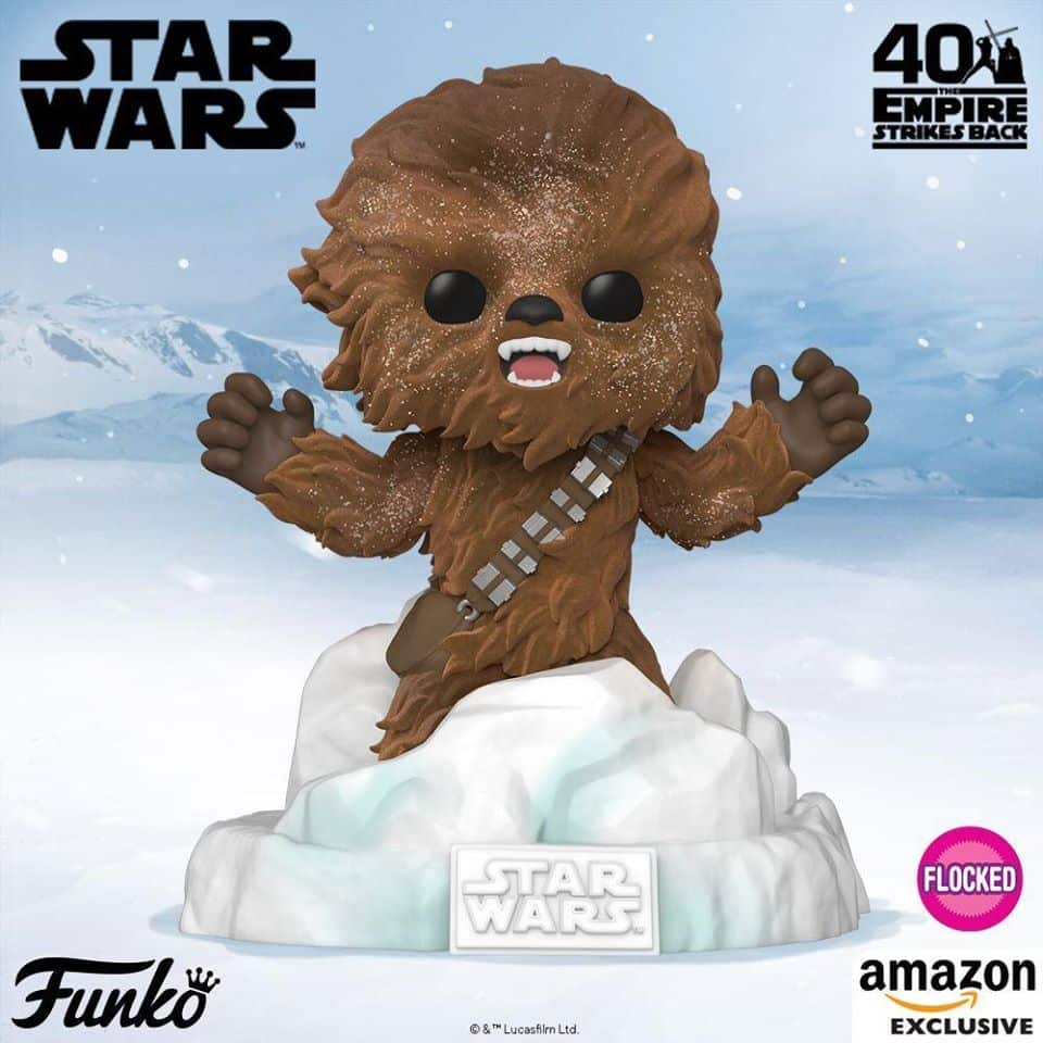 Funko Pop! Deluxe: Star Wars Episode V: The Empire Strikes Back 40th Anniversary - Battle at Echo Base:  Chewbacca (Flocked) Funko Pop! Vinyl Figure  - Amazon Exclusive Diorama - Figure 3 of 6